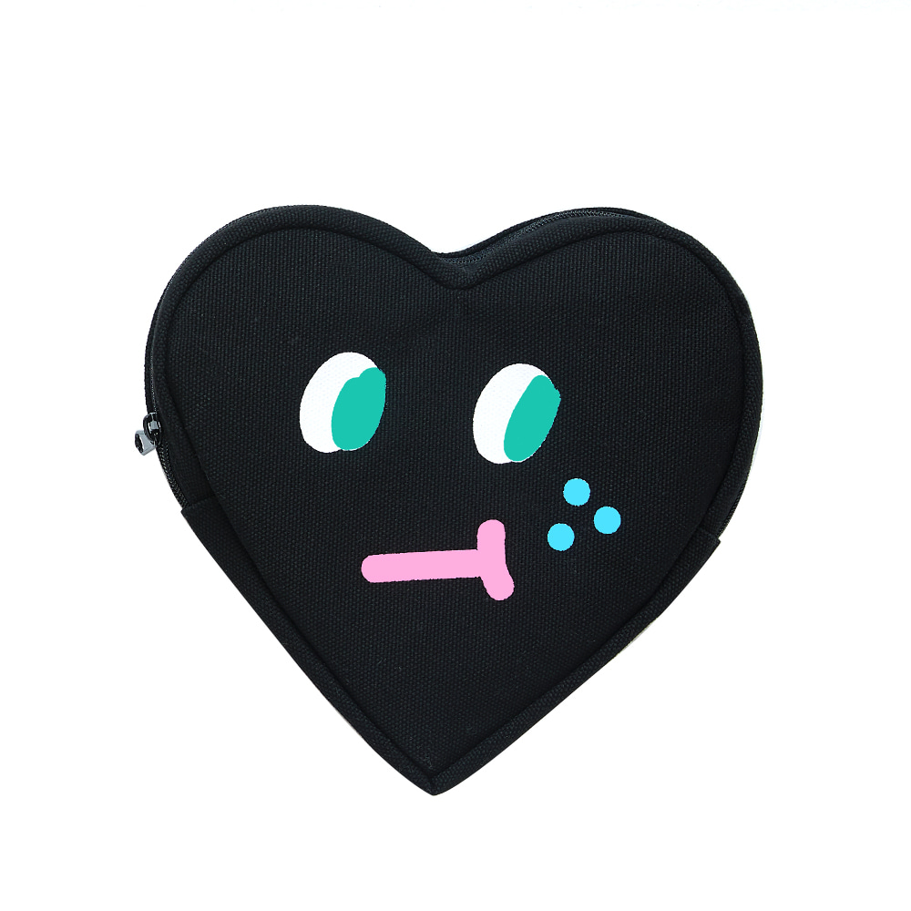 slowcoaster black heart pouch (30% OFF)