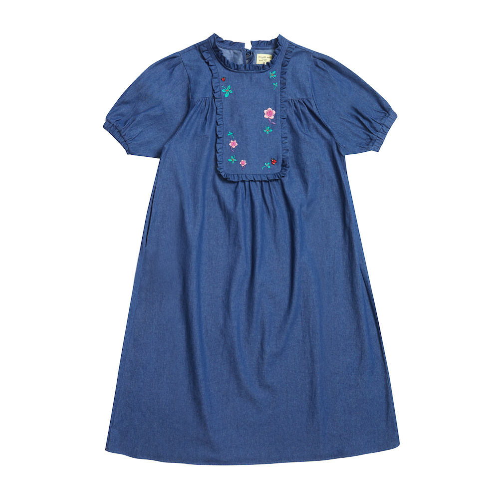 NAT denim dress ladybug